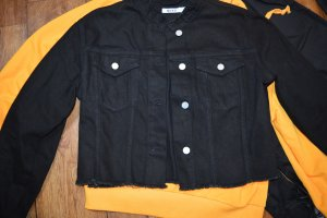 Raw Hem Short Denim Jacket schwarz 38 Nakd top