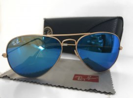 Ray Ban Aviator Glasses gold-colored-blue