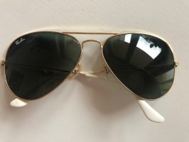 Ray Ban Aviator Glasses gold-colored-white