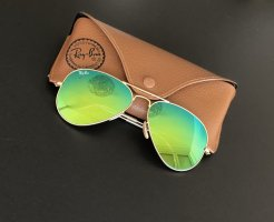 Ray Ban Aviator Large Metal grün verspiegelt gold