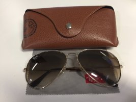 Ray Ban Aviator Large Pilotenbrille gold-braun
