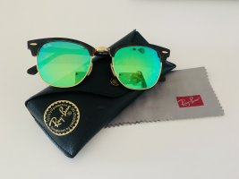Ray Ban Occhiale da sole spigoloso marrone scuro-blu cadetto