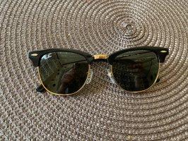 Ray Ban Lunettes de soleil angulaires noir-doré verre