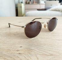 Ray Ban Okrągłe okulary przeciwsłoneczne złoto-brązowy