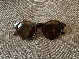 Ray Ban Oval Sunglasses black-brown glas