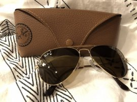 Ray Ban Polarized Sonnenbrille Pilotenbrille goldfarben