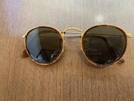 Ray Ban Gafas de sol redondas color oro-marrón metal