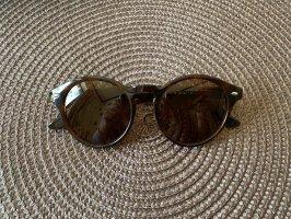 Ray Ban Owalne okulary przeciwsłoneczne czarny-brązowy Szkło