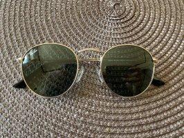 Ray ban runde sonnenbrille silber grau