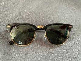 Ray ban schwarz goldene clubmaster sonnenbrille