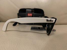 Rayban Angular Shaped Sunglasses white-black