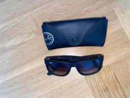 Rayban Owalne okulary przeciwsłoneczne czarno-brązowy-ciemnobrązowy