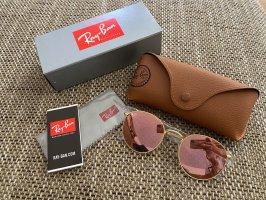 Ray Ban Okrągłe okulary przeciwsłoneczne w kolorze różowego złota-złoto