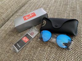 Ray Ban Round Sunglasses black-blue