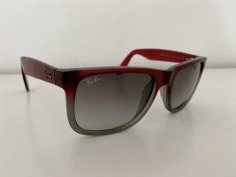 Ray Ban Hoekige zonnebril grijs-karmijn