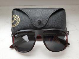 Ray Ban Angular Shaped Sunglasses black-red