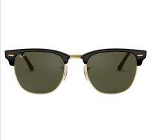 Ray Ban Ovale zonnebril zwart-goud