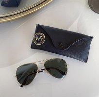Ray Ban Aviator Glasses dark green-gold-colored