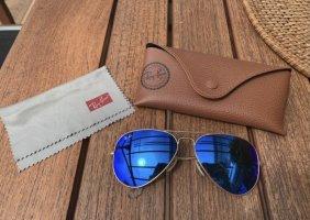 Ray Ban Pilotenbril blauw-goud