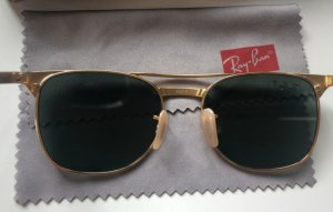 Ray Ban Oval Sunglasses gold-colored-green grey