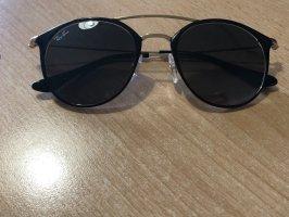 Ray Ban Pilotenbril zwart-goud Metaal