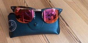 Ray Ban Gafas Retro marrón-rojo frambuesa