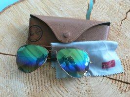 Ray Ban Sonnenbrille mit grünen Gläsern wie neu mit Etui