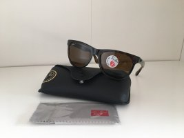 Ray Ban Occhiale da sole spigoloso marrone scuro