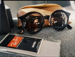 Ray Ban Owalne okulary przeciwsłoneczne czarny-złoto