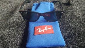 Ray Ban Sonnenbrille,New Wayfarer Junior, schwarz, grüne Gläser, inkl. Etui