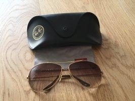 Ray Ban Gafas de piloto marrón-color oro