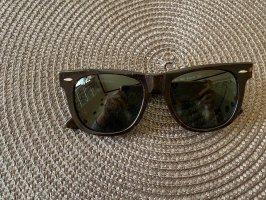 Ray Ban Kwadratowe okulary przeciwsłoneczne czarny-brązowy Szkło