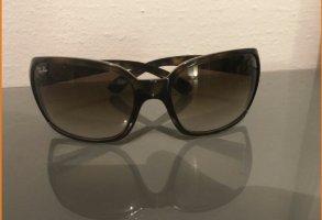 Ray Ban Hoekige zonnebril donkerbruin-lichtbruin