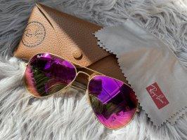 Rayban Gafas de piloto rosa-color oro