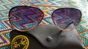 Rayban Aviator Glasses gold-colored-steel blue