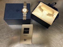 Reloj con pulsera metálica gris antracita-color oro