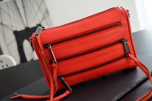 Rebecca Minkoff Mini 5 Zip Crossbody Tasche in hot red