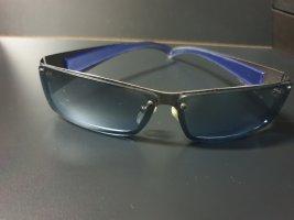 Rechteckige Blaue Sonnenbrille