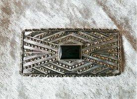 keine Marke bekannt Broche zilver-zwart Metaal