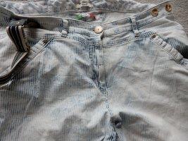 Recover Workowate jeansy biały-jasnoniebieski
