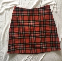 red checked mini skirt