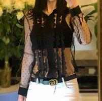 Redvalentino transparente Bluse mit Muster,Tüllbluse Valentino,Oberteil,Top, Hemdbluse,Spitzenbluse