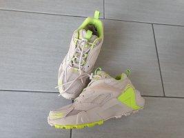 Reebok Sneaker,  beige-neon grün gr.37
