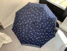 Folding Umbrella dark blue-white