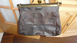 Travel Bag brown-dark brown leather