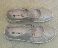 Remonte Ballerines à lacets argenté-gris clair