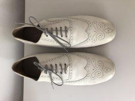 René Lezard Lace Shoes natural white-white leather
