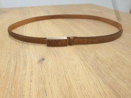 René Lezard Leather Belt cognac-coloured
