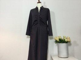 RENE LEZARD Kleid Gr. 40/42 pflaumefarben blaulila Hemdblusenkleid Baumwolle Damen