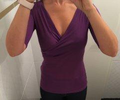René Lezard Cowl-Neck Shirt lilac